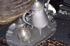 Silver tea set Before